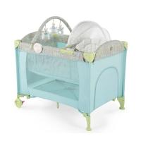 Кровать-манеж 3 в 1 с шезлонгом-качалкой Happy Baby Lagoon V2 Blue