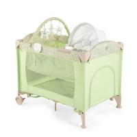 Кровать-манеж 3 в 1 с шезлонгом-качалкой Happy Baby Lagoon V2 Green