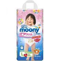 Трусики для девочек MOONY, размер L, 9-14 кг, 44 шт (БЕЗ ДИСНЕЯ)