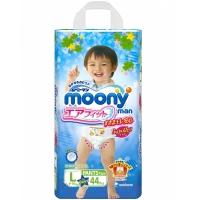 Трусики для мальчиков MOONY, размер L, 9-14 кг, 44 шт (БЕЗ ДИСНЕЯ)
