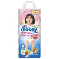Трусики для девочек MOONY, размер XL, 12-17 кг, 38 шт (БЕЗ ДИСНЕЯ)