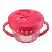 "Тарелка с двумя крышками Happy Baby ""Snack Bow"" Red 15021"