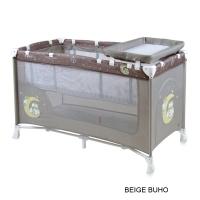 Кровать-манеж Lorelli Nanny 2 Бежевый / Beige Buho 1702