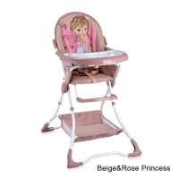 Стульчик для кормления Lorelli Bravo Розово-бежевый / Rose&Beige Princess 1703