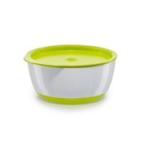 Набор глубоких тарелок с крышкой Happy Baby, Lime 15025