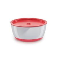 Набор глубоких тарелок с крышкой Happy Baby, Red 15025