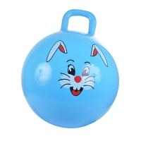 Надувной мяч ЗАЙКА, PVC, с насосом, 38 см, Голубой, SPRING 38