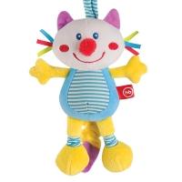 """Подвесная игрушка-растяжка с вибрацией """"Кот"""", Happy Baby 330360"""