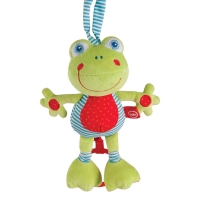 """Подвесная музыкальная игрушка-растяжка """"Лягушка"""", Happy Baby 330361"""