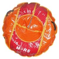 Тюбинг (оболочка, камера, упаковочная сумка) D125 см, красно-оранжевый, КУРС