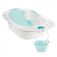 Ванна с анатомической горкой COMFORT аквамарин, Happy Baby 34005a