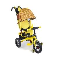 Трехколесный велосипед на надувных колесах Mini Trike Жираф (3 положения спинки) 777