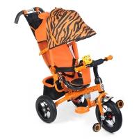 Трехколесный велосипед на надувных колесах Mini Trike Тигр (3 положения спинки) 777