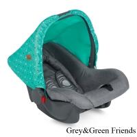 Автокресло Lorelli Bodyguard (0-13 кг) Серо-зеленый/ Grey&Green Friends 1704