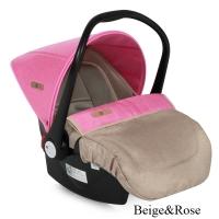 Автокресло Lorelli LB321 Lifesaver (0-13 кг) Бежево-розовый / Biege&Rose 1746