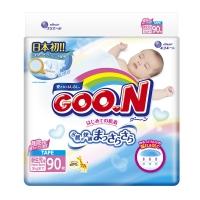 Подгузники Goon (Гун), размер NB, от 0 до 5 кг, 90 шт