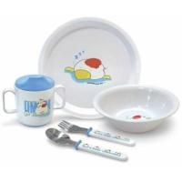 Набор посуды (тарелочка, мисочка, чашка, ложечка, вилочка), арт. 2818, Сказка
