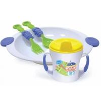 Набор посуды (тарелочка, кружка 225 мл,  ложечка, вилочка), арт. 2815, Сказка