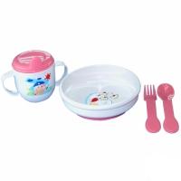 Набор посуды (тарелочка, кружка 225 мл,  ложечка, вилочка), арт. 2820, Сказка