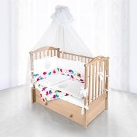 Комплект в кроватку Pituso СЕРДЕЧКИ 6 предметов Белый