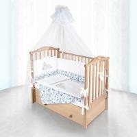 Комплект в кроватку Pituso ПЧЕЛКИ 6 предметов Голубой
