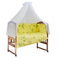 Комплект в кроватку 7 предметов BAMBOLA ГАМАЧКИ Желтый