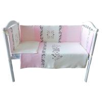 Комплект в кроватку 6 предметов BAMBOLA СЛАДКИЕ СНЫ Розовый