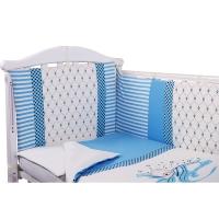 Комплект в кроватку 6 предметов BAMBOLA СЛАДКИЕ СНЫ Голубой