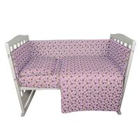Комплект в кроватку 6 предметов BAMBOLA МАЛЫШОК Розовый