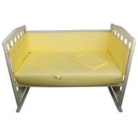 Комплект в кроватку 6 предметов BAMBOLA КАРАМЕЛЬКИ Желтый