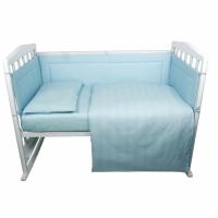 Комплект в кроватку 6 предметов BAMBOLA КАРАМЕЛЬКИ Голубой