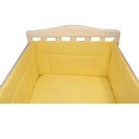Бортик в кроватку BAMBOLA КАРАМЕЛЬКИ Бязь 43х360 Желтый