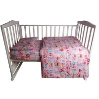 Комплект постельного белья 3 предмета BAMBOLA СОВУШКИ Бязь Розовый