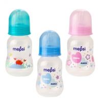 Бутылочка для кормления с силиконовой соской, 0+, 125 мл, Mepsi 0200