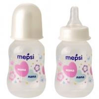 Бутылочка для кормления с силиконовой соской, 0+, 125 мл, Mepsi 0204