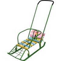 Детские санки с багажником НИКА Тимка 7 ЗЕЛЕНЫЙ