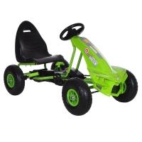 Педальный Картинг ANHUITECH DIABLO, надувные колеса, 113х59.5х61.5, Зеленый