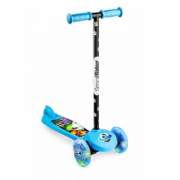 Самокат со светящимися колесами Small Rider Scooter Flash (CZ) (синий)
