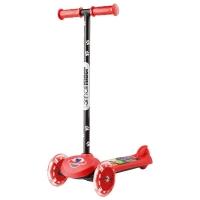 Самокат со светящимися колесами Small Rider Scooter Flash (CZ) (красный)
